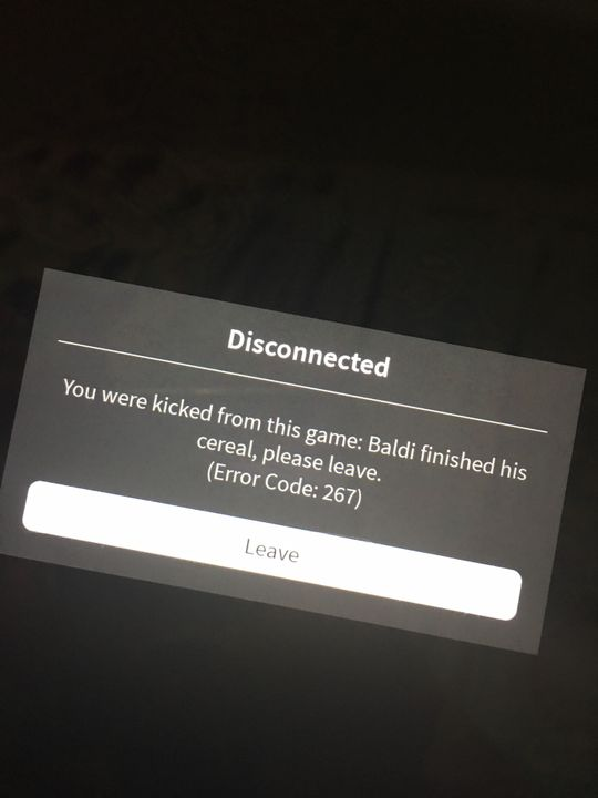 Roblox Kicked From Game Error Code 267