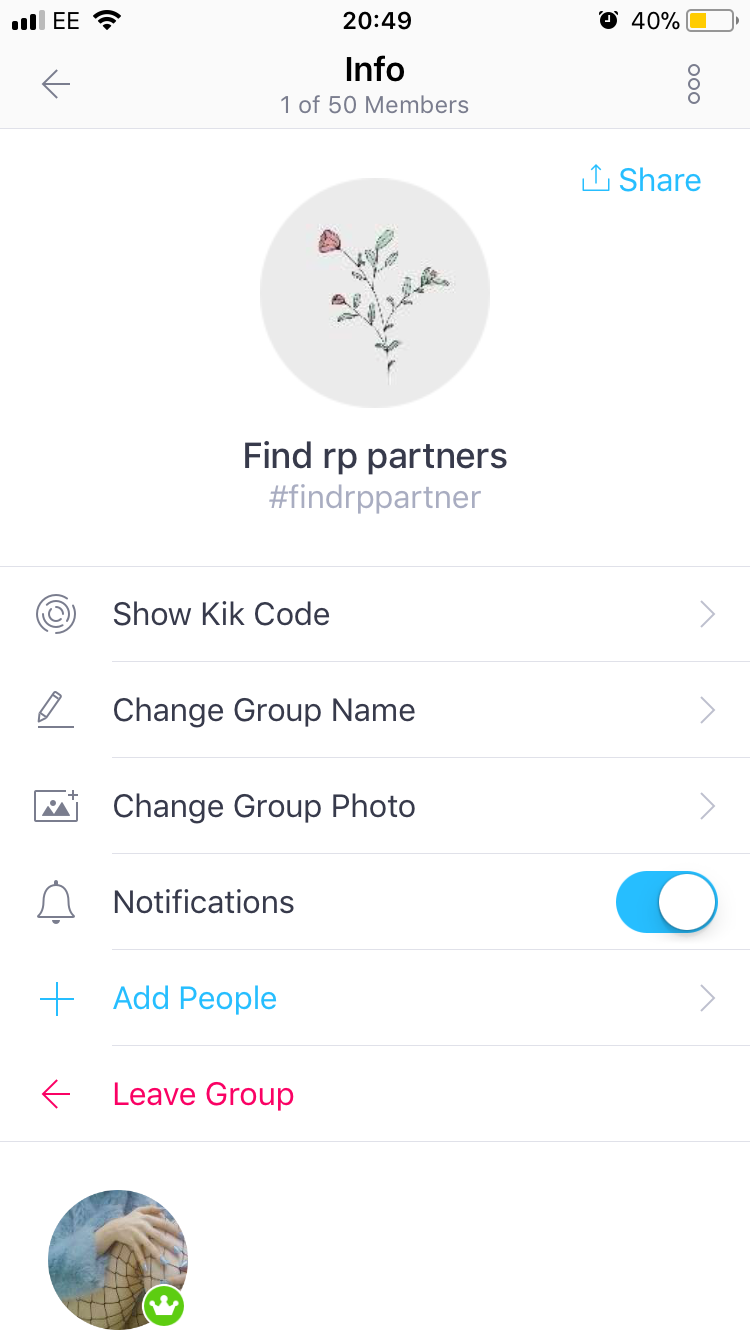 Kik roleplay partners
