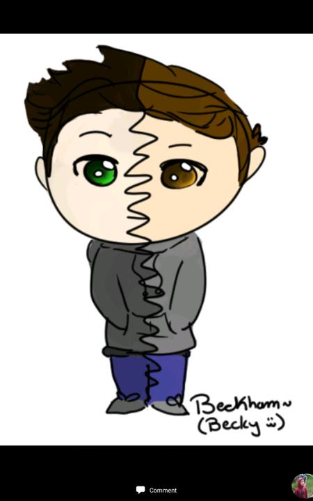 Aaaaand here's Beckham! (She calls him Becky lol):