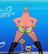 Patrick star dancing in heels