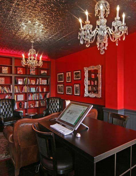 Мы вошли в кабинет выполненный в чёрно-красных цветах, где за столом из красного дерева сидела Ми и Саймон