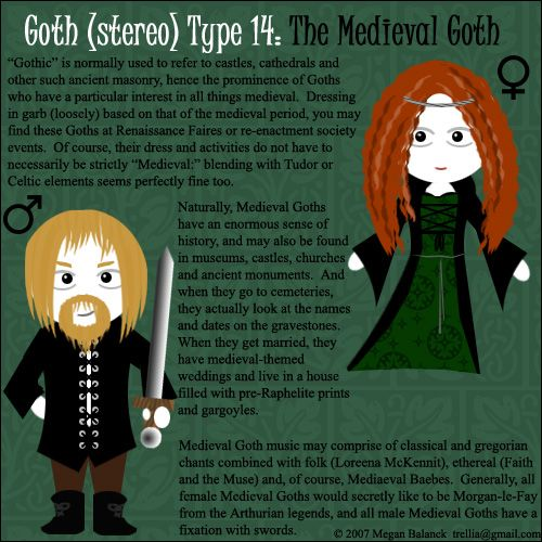 about goth  stereo  types - the medieval goth