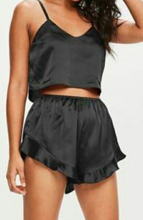 Simple black hot night dress