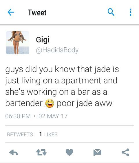 I looked at some tweet and i noticed that they are talking about jade again