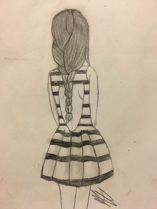 54f90fed8 My Drawings - The girl in the striped dress - Wattpad