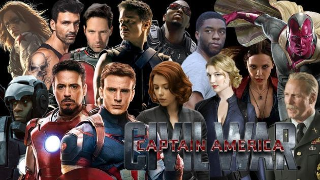 Everyone else of the Captain America civil war cast is the same!