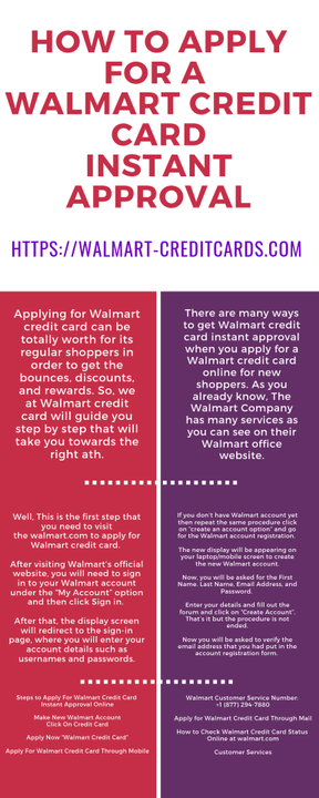 Apply Walmart Credit Card Instant Approval >> Walmart Credit Card Login Info How To Make Walmart Credit