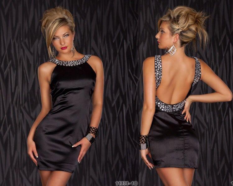 Фото платьев с открытой спиной короткие