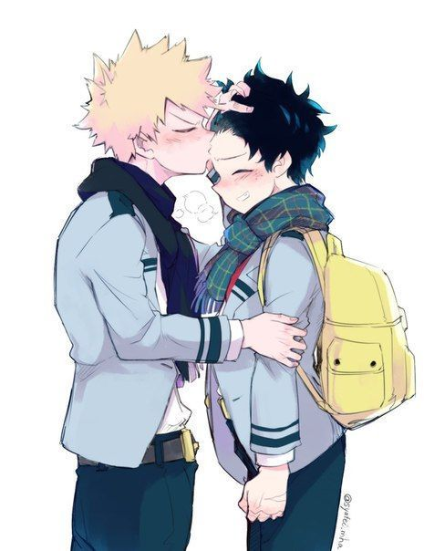 after a long day hanging out with kacchan, once I was about to say goodbye and that I had a great time, we stop by my house and I turn around to wave bye