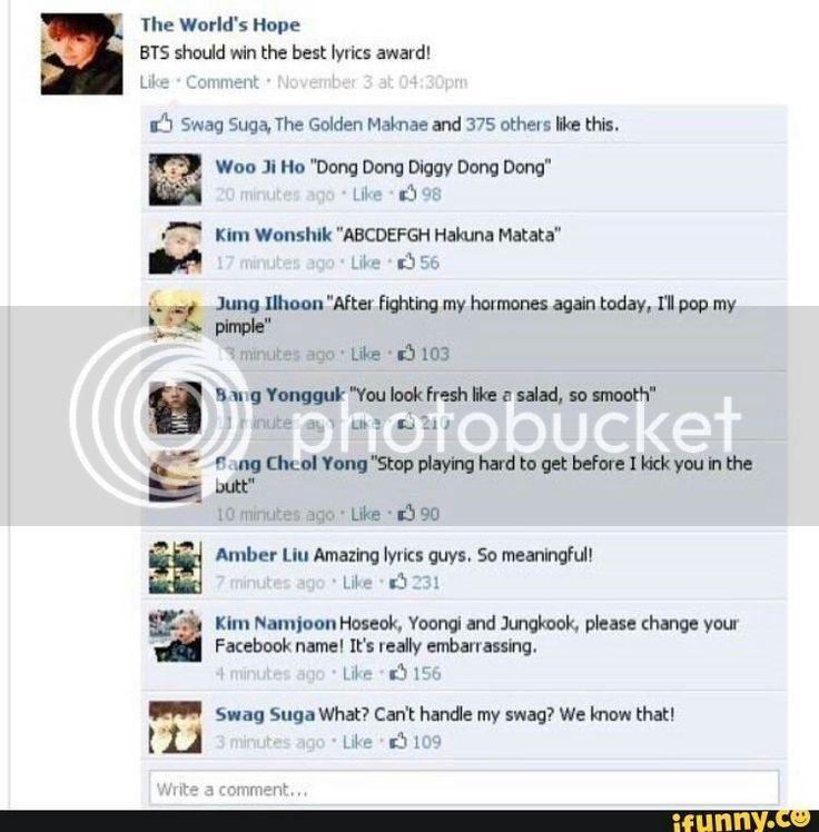 BTS SCENARIOS  JOKES  ETC  PT     BTS ON FACEBOOK   Wattpad Wattpad  army  bangtan  bangtansonyeondan  bts  bulletproof  jhope  jimin  jin  jokes  jungkook  rapmonster  suga