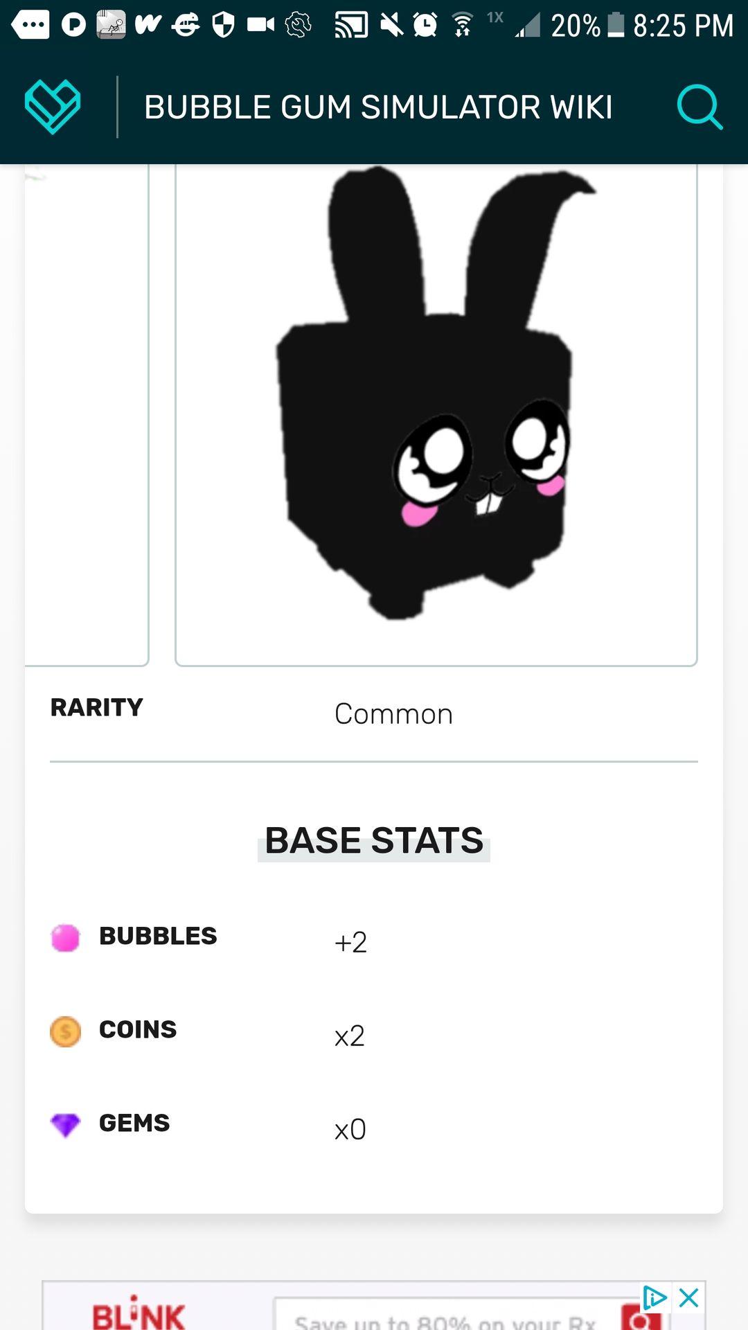 Bubble gum simulator pet review! - Bunny - Wattpad