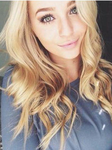 Blond haar groene ogen