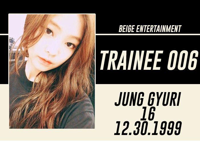 FULL NAME: Jung GyuriSTAGE NAME: GyuriNICKNAME: Savage Maknae, Yuri, UriBIRTHDATE: December 30, 1999AGE: 16HEIGHT: 168 cmWEIGHT: 45 kgHOMETOWN: Seoul, South KoreaNATIONALITY: KoreanETHNICITY: Asian
