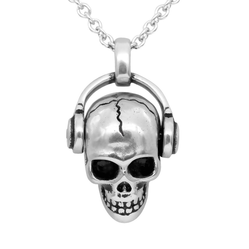 The skull necklace actually had the cracks in red, so it looked like something was glowing in it