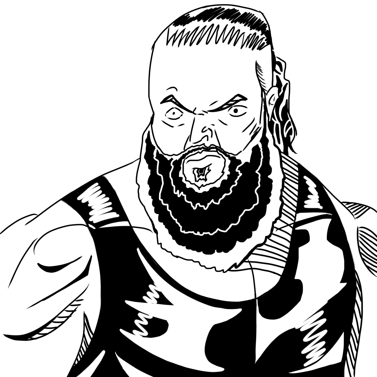 Brawn Strowman Coloring Pages