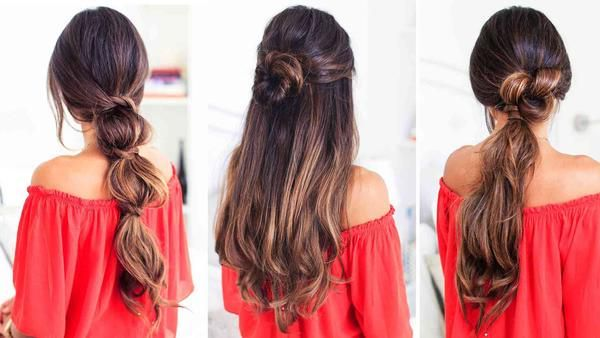 (her hair it number 2 or the middle one)