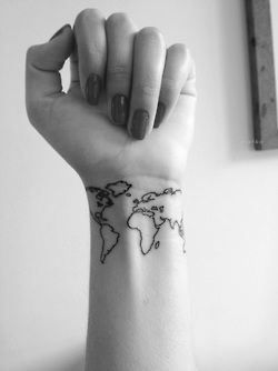 Tatuaje Mapa Del Mundo.El Significado De Los Tatuajes Mapamundi Wattpad