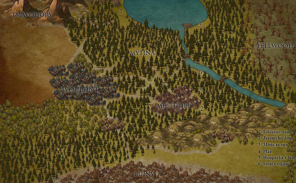 Ahoj! K tomuto příběhu Vám nově k traileru přináším i mapu! Takže se již v příběhu neztratíte :)