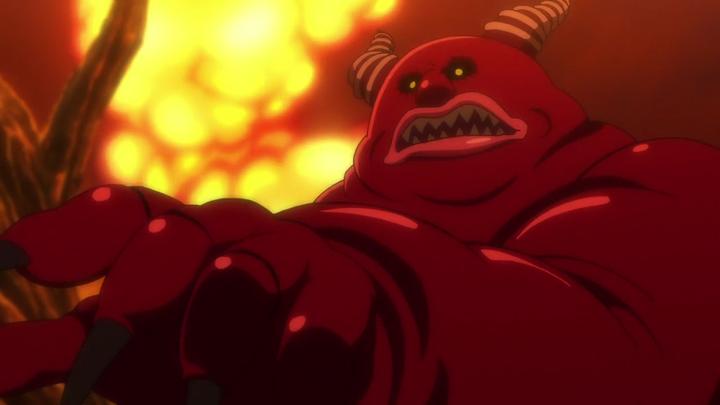 El demonio saco una gran llama y me devolvió el balde