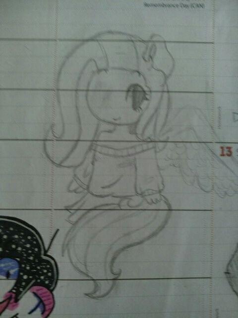 I draw in my school planner