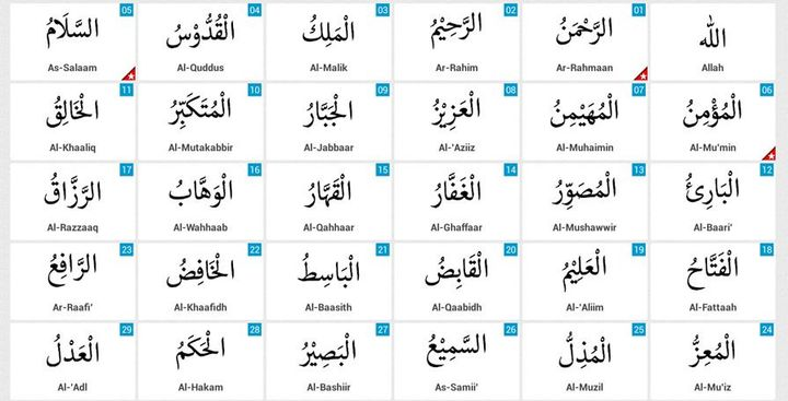 Allah SWT Has The Most Beautiful Names Known As 99 Of
