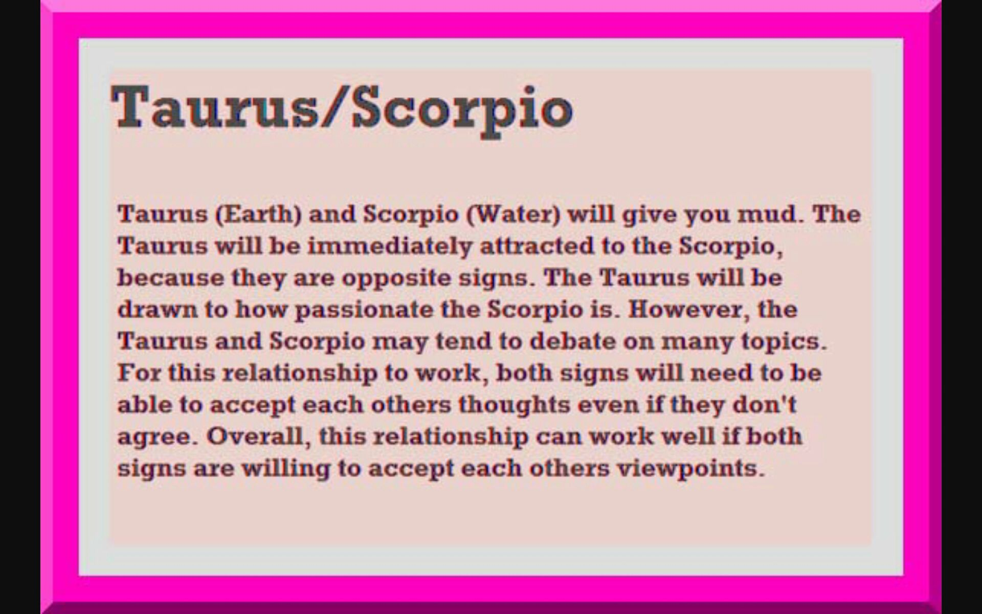 Taurus and scorpio compatible