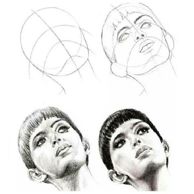 çizim Teknikleri Karakalem Portre ışık Ve Gölge Tonlama Wattpad