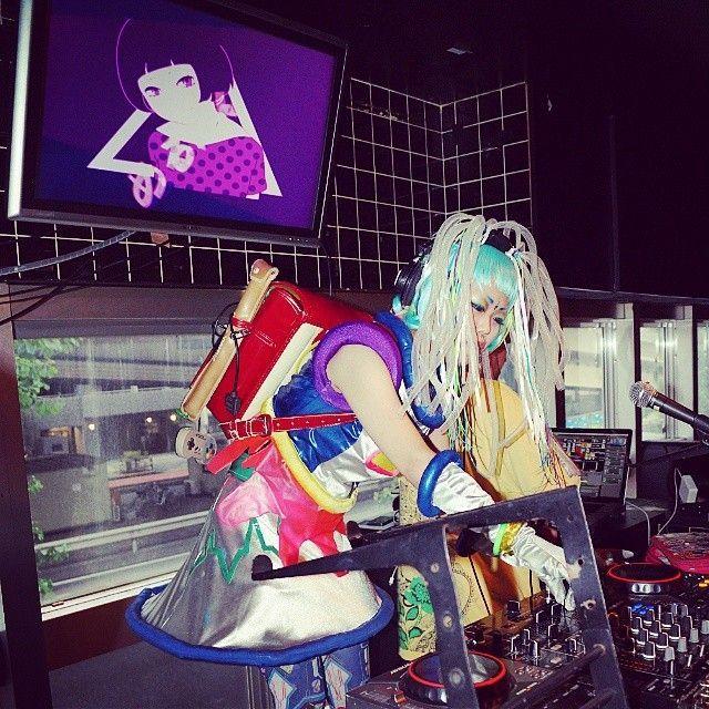 DJ Merupan in her cyber regalia
