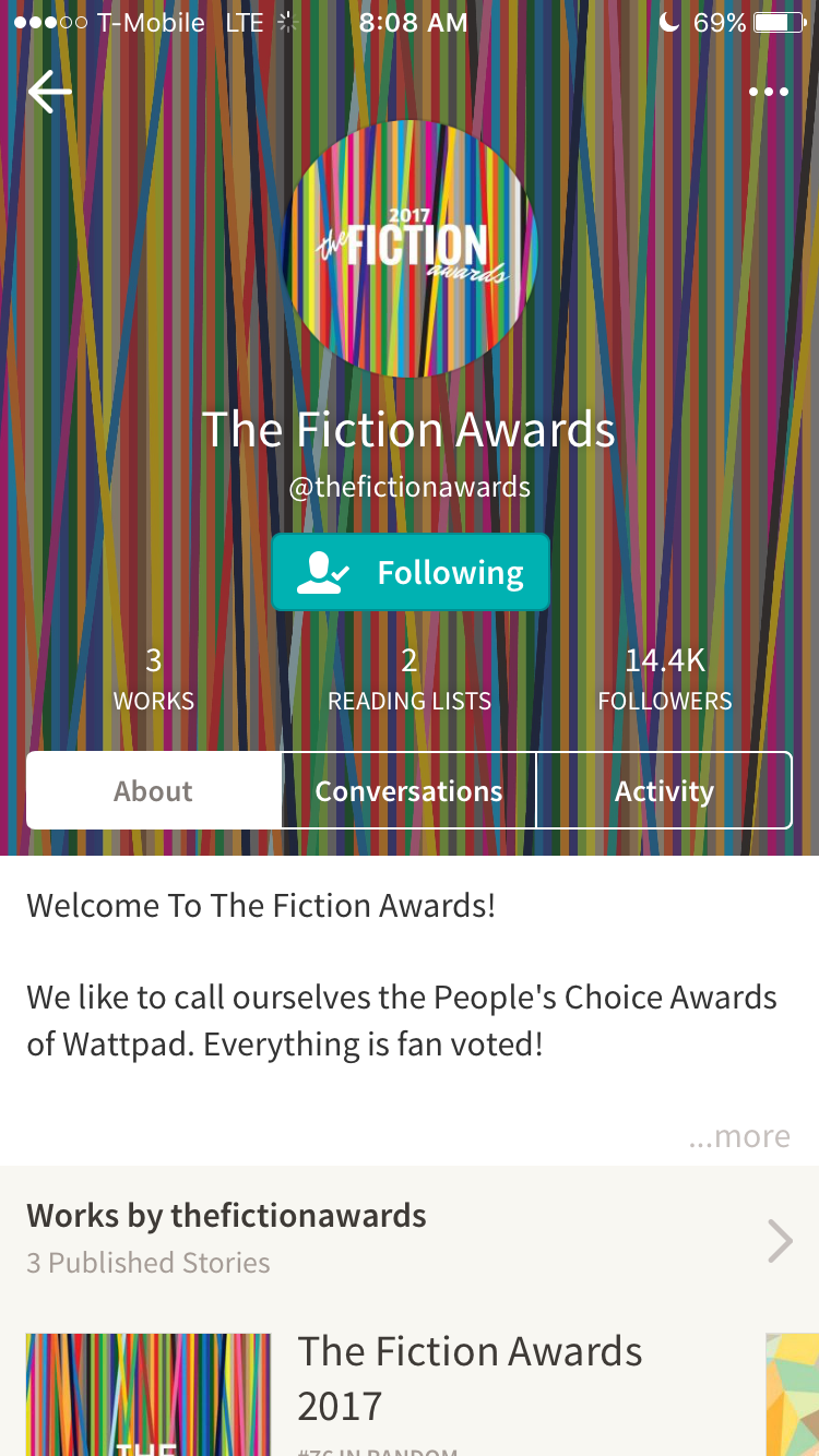 Just go to the Fiction Awards profile & find the 2017 book