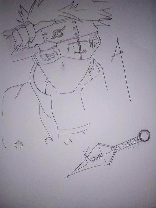 Mon Petit Recueil De Dessins Dessin N 15 Kakashi Naruto