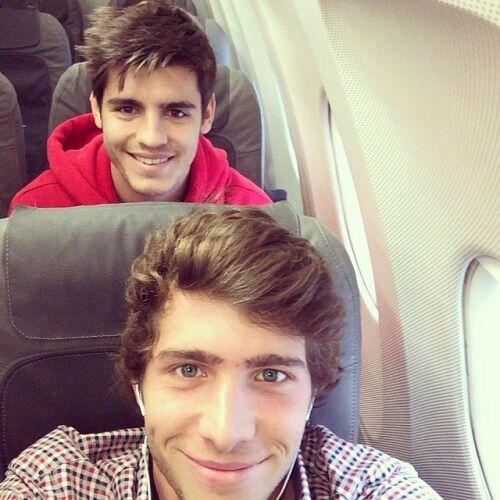 Sergi Roberto and Alvaro Morata: