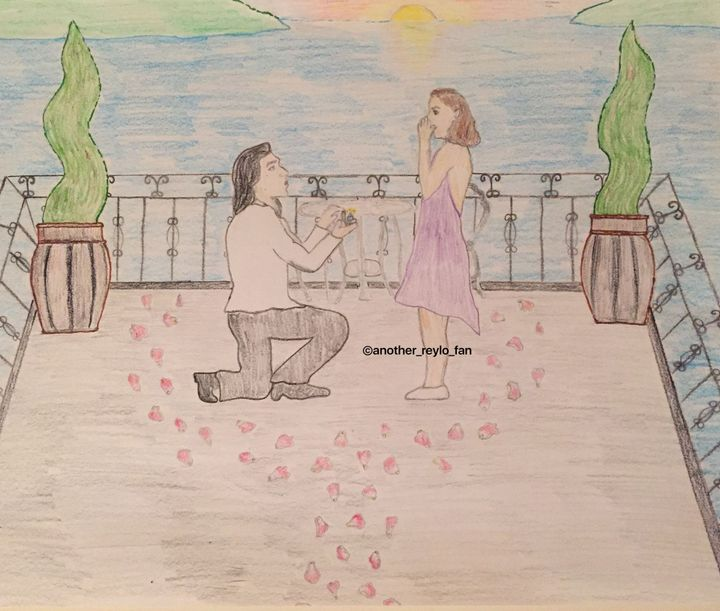 Hey everyone! I drew a drawing of the proposal date from the last chapter but I didn't want the picture to give it away at the beginning, so here it is!