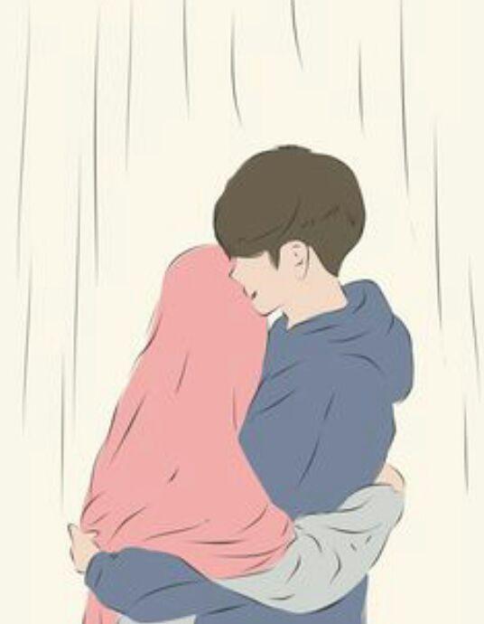440+ Gambar Kartun Muslimah Couple Romantis Terbaru