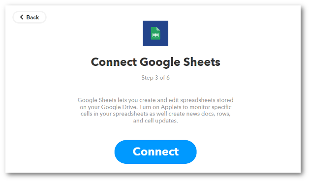 Then select the action you want to be performed on your Google Sheet