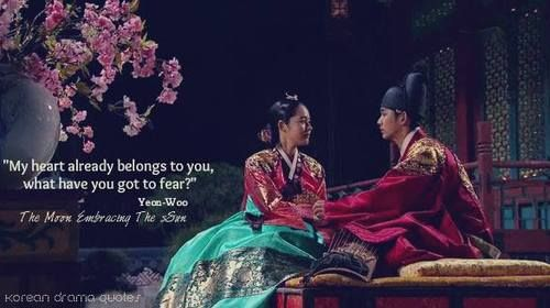 Best Korean Drama Quotes Moon That Embraces The Sun Wattpad