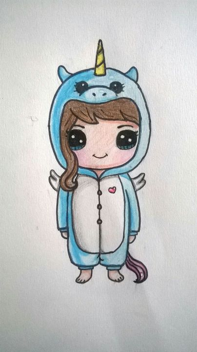 My Drawing Book Cute Girl In A Unicorn Onesie Wattpad