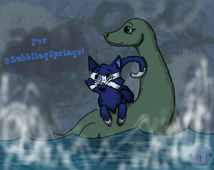 Although you've probably already gone to sleep, here it is! It's Scottie going out for a ride on Loch Ness