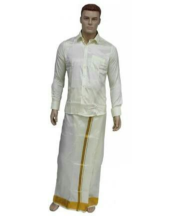 Arnie see this sample pic and help me to tie like this sid gave him a pic of a model tied dhotiveshti