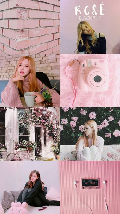 Kpop Aesthetic Collage Requests Closed Blackpink Rose Pink
