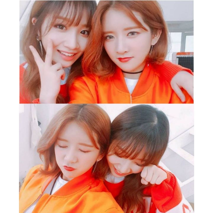In a recent Instagram update by Monster Entertainment, Jrae and Melody from Dandelion share a lovely selca together in contrasting outfits!! Their senior Chen apparently also made an appearance in the set they're in bringing in lunch for all the p...