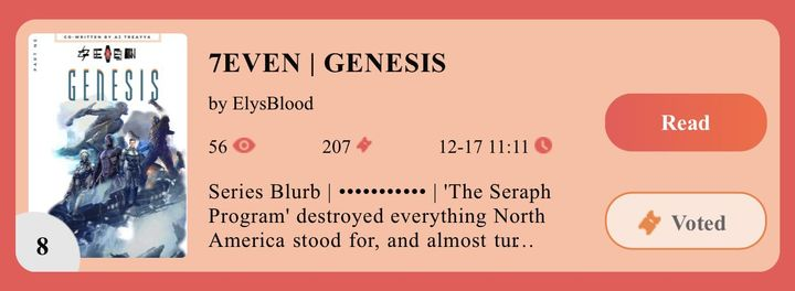 Be sure to check out the SoFun Carnival Contest! Vote for my story 7EVEN | Genesis! The link is also in our bio! Thank you all for the continued support, and I can't wait to bring your more books! ❤️