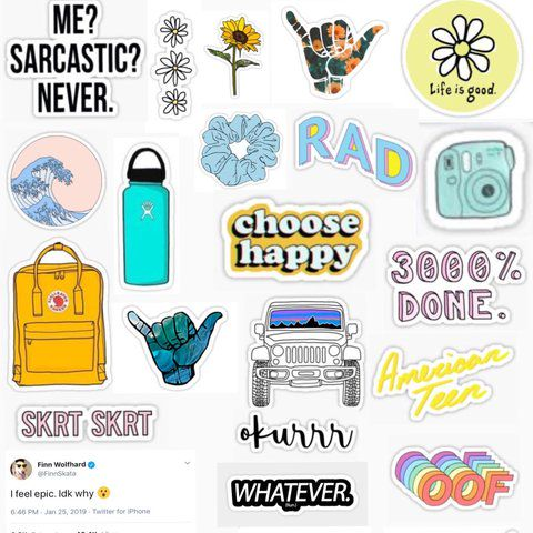 image relating to Vsco Printable Stickers titled how towards be a VSCO lady - stickers - Wattpad