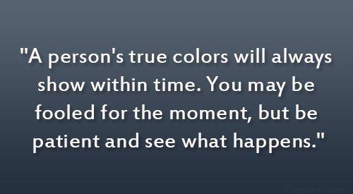 true colors of a person