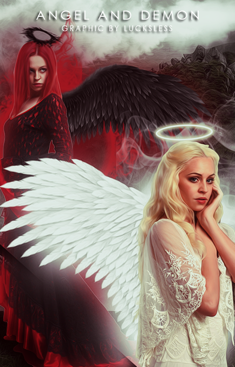 Angel and Demon photomanipulation