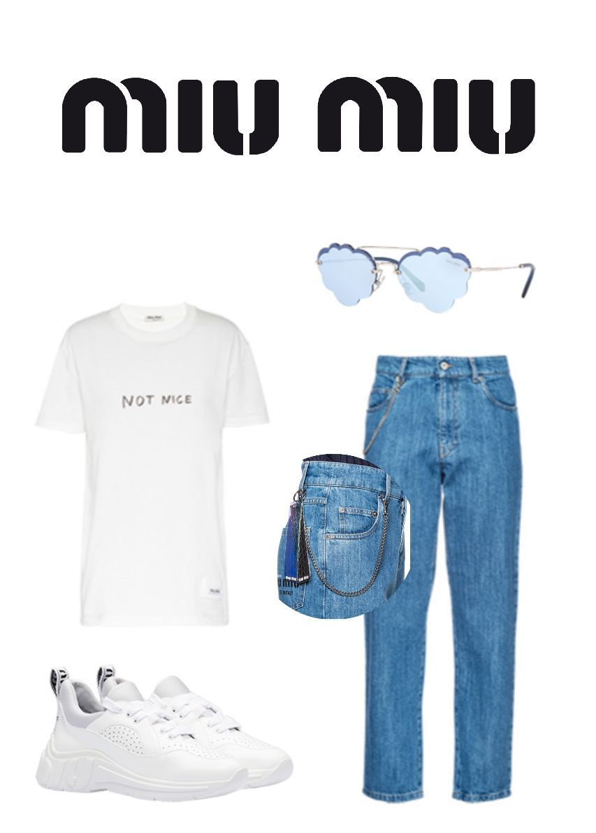 Louis slipped on a cute white t-shirt with words on it, and blue denim jeans with a chain on the side
