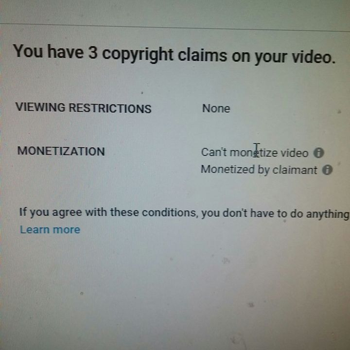 I still can't believe this video got 3 claims! At least they're all fair
