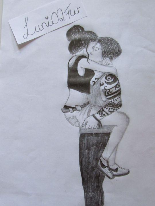 Mädchen Einfach Küssen