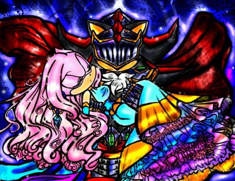 Al abrir la puerta, el rey se encontró con un erizo cuyo rostro estaba tapado por una armadura, con su hija desmayada en brazos