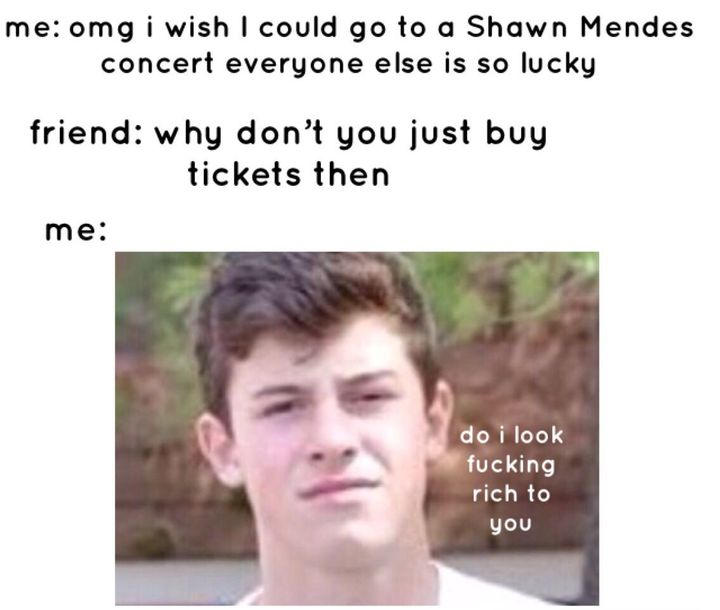 this is literally me with my friends (especially with Shawn and another's groups) they're always telling me to stop complaining of why I can't go to a Shawn concert