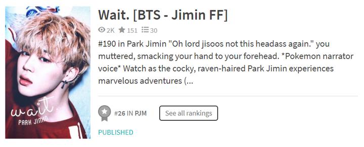 ON HOLD* Wait  [BTS - Jimin FF] - Thank You - Wattpad